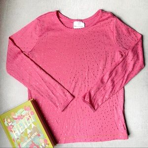 Pink Tee Gold Shimmer Pin Dots HANNA ANDERSSON 8